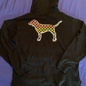 PINK Dog Bling Hoodie
